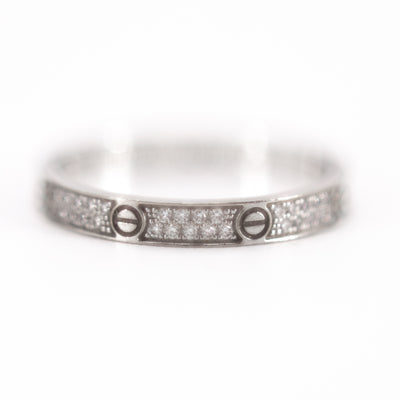 Cartier Love Ring SM 18k White Gold Diamonds size 52 2019