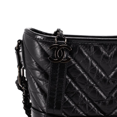 Chanel Quilted Small Gabrielle Hobo So Black