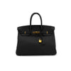 Hermes Clemence Birkin 35 Black - Price in Description