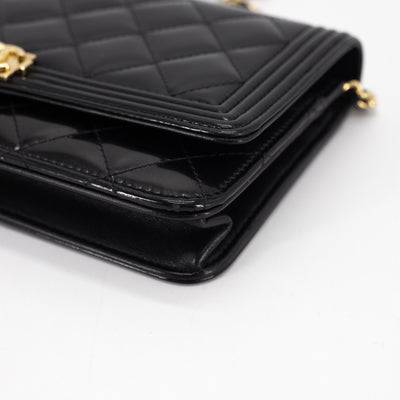 Chanel Patent Boy Wallet on Chain WOC