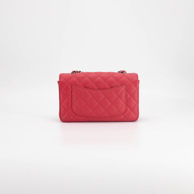 Chanel Quilted Caviar Rectangular Mini Red