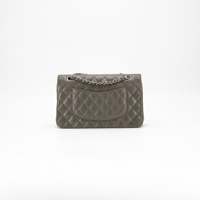 Chanel Quilted Caviar Medium/Large Classic Flap Khaki/Grey