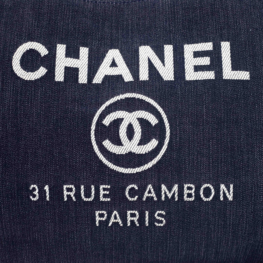 Chanel Extra Large Deauville Tote Denim