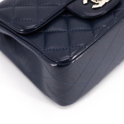 Chanel Quilted Square Mini Navy
