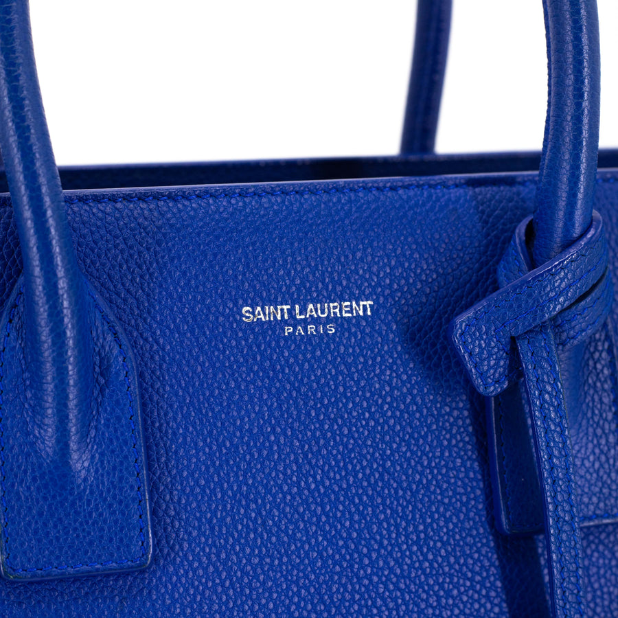 SAINT LAURENT CLASSIC SAC DE JOUR BABY IN GRAINED LEATHER BLUE