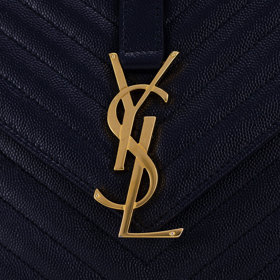 Saint Laurent Envelope Bag Large Navy