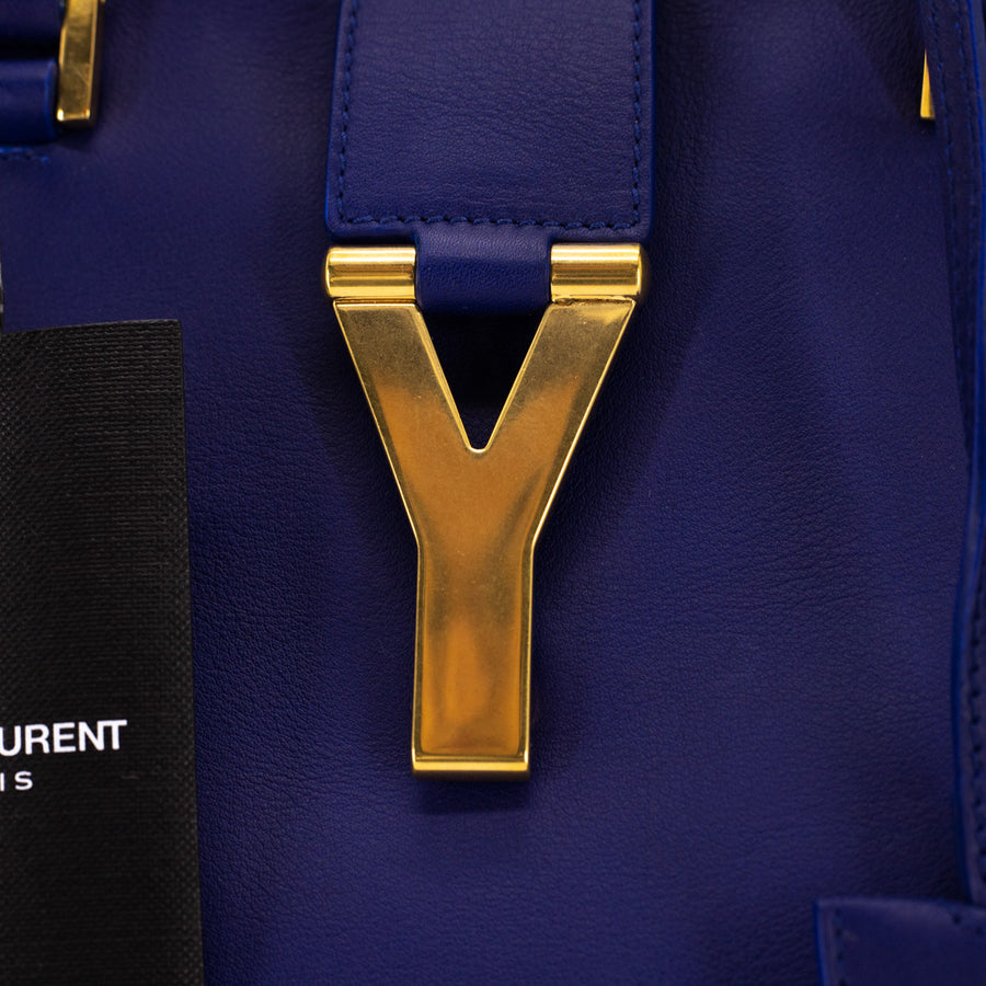 Saint Laurent Cabas Classique Y Bag Blue