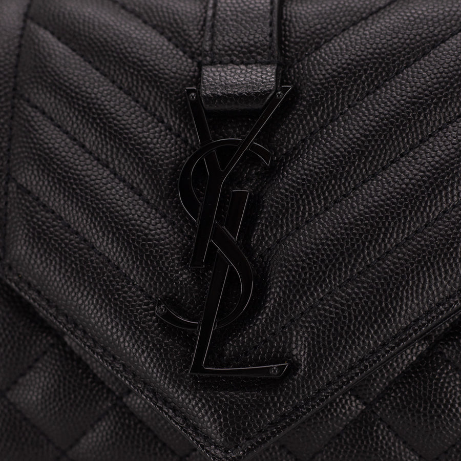 Saint Laurent Small Envelope Bag So Black
