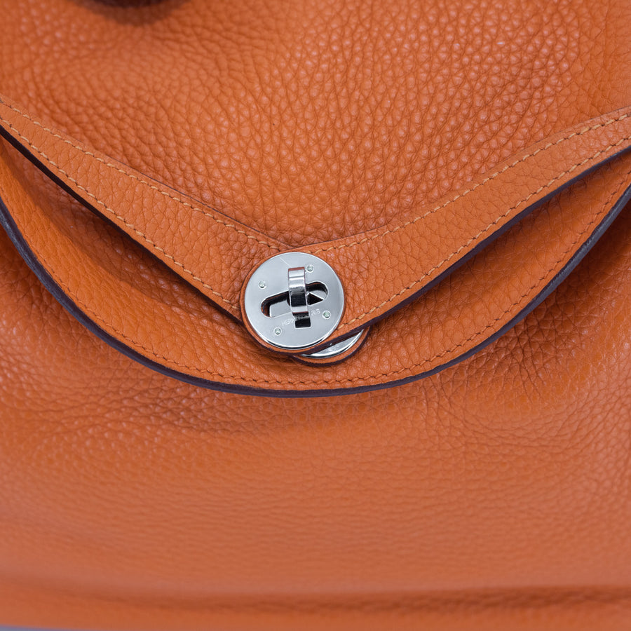Hermes Lindy 30 Orange - O Stamp
