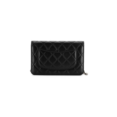 Chanel Quilted Lambskin WOC Wallet on Chain Black