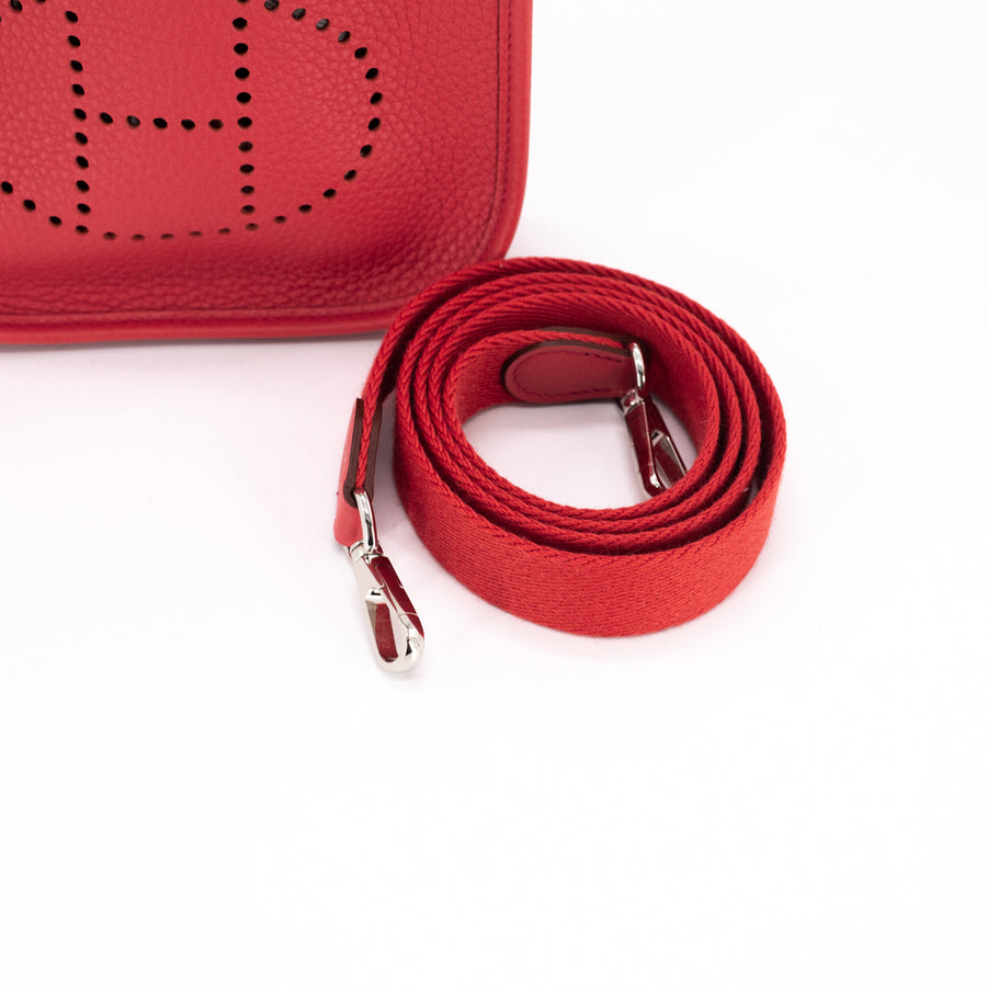 Hermes Evelyne 16 TPM Mini Rouge Pivoine - X Stamp