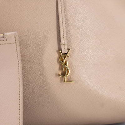 Saint Laurent Shopper Tote Nude
