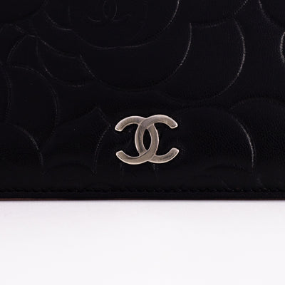 Chanel Camelia Wallet Black