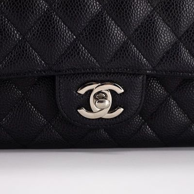 Chanel Quilted Caviar Medium/Large Classic Double Flap Black