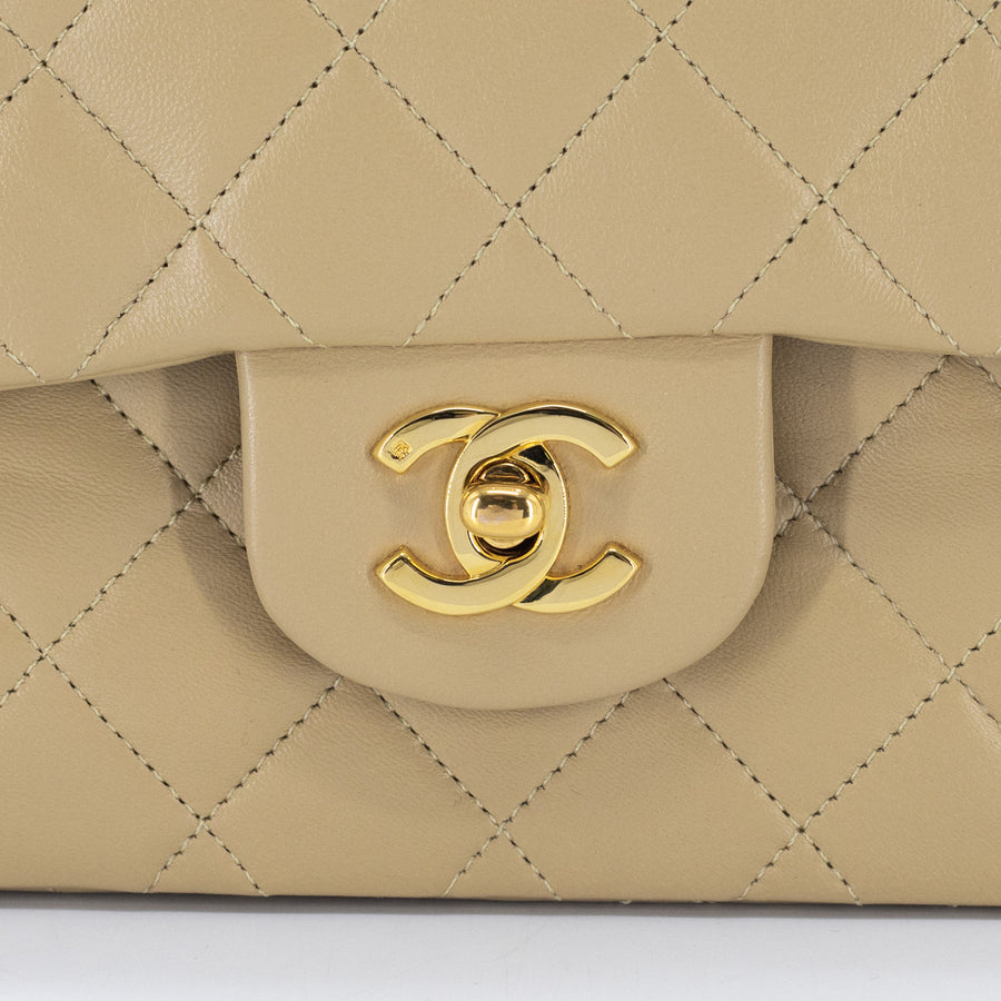 Chanel Small Vintage Classic Flap Beige