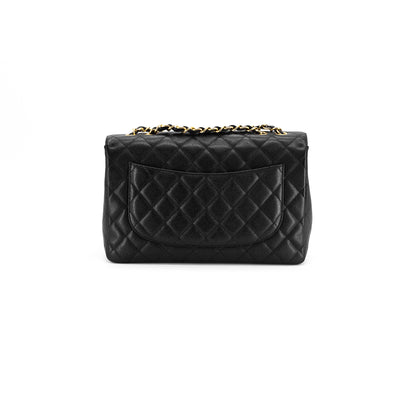 Chanel Quilted Caviar Jumbo Single Flap Black