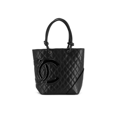 Chanel CC Quilted Calfskin Tote Black