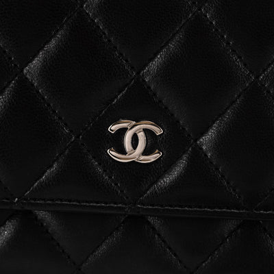 Chanel Quilted Lambskin Wallet On Chain WOC Black