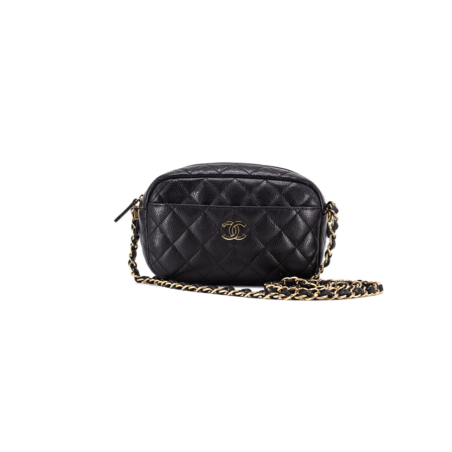 05c3223a9a9fb2 Chanel Caviar Quilted Camera Case Crossbody Bag