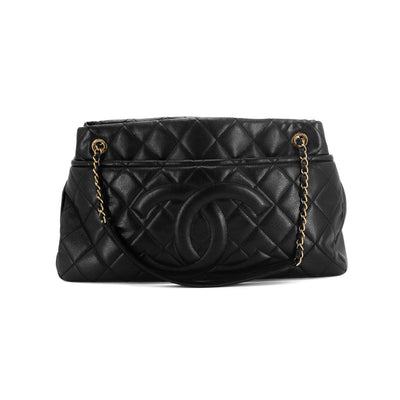 Chanel Quilted Caviar Tote Black