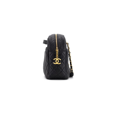 Chanel Quilted Caviar Camera Bag Black