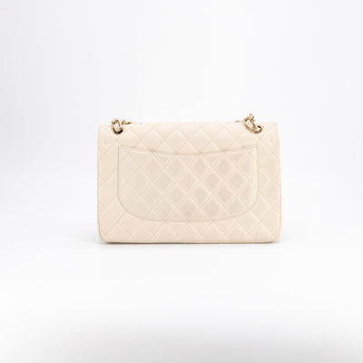 Chanel Quilted Caviar Jumbo Classic Flap Ivory
