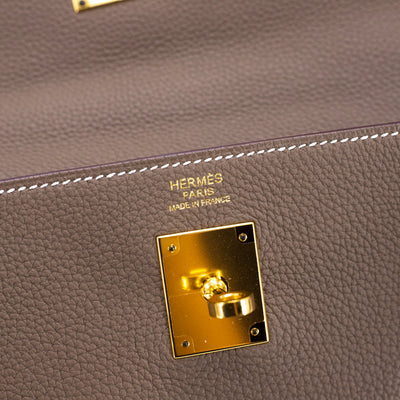 Hermes Kelly 32 Etoupe - T Stamp