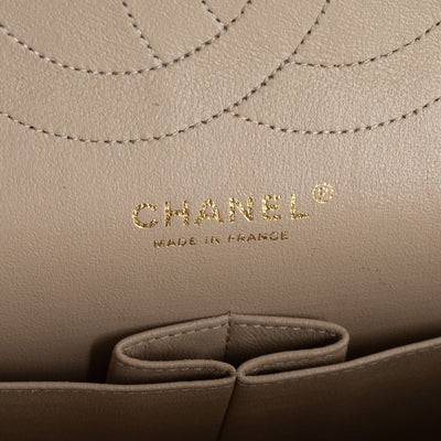 Chanel Quilted Lambskin Jumbo Classic Double Flap Beige