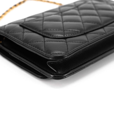 Chanel Lucky Charms Wallet On Chain WOC Black