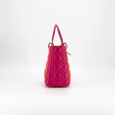 Dior Lady Dior Medium Fuchsia/Red