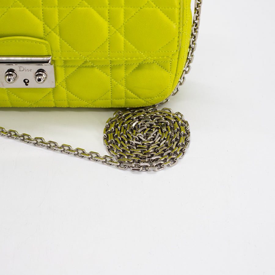 Dior Leather Wallet on Chain Lime Green