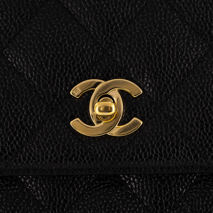 Chanel Quilted Caviar Vintage Coco Large