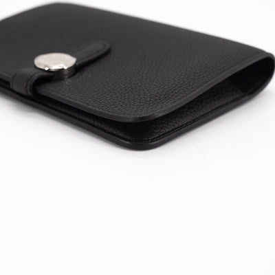 Hermes Compact Dogon Wallet Black