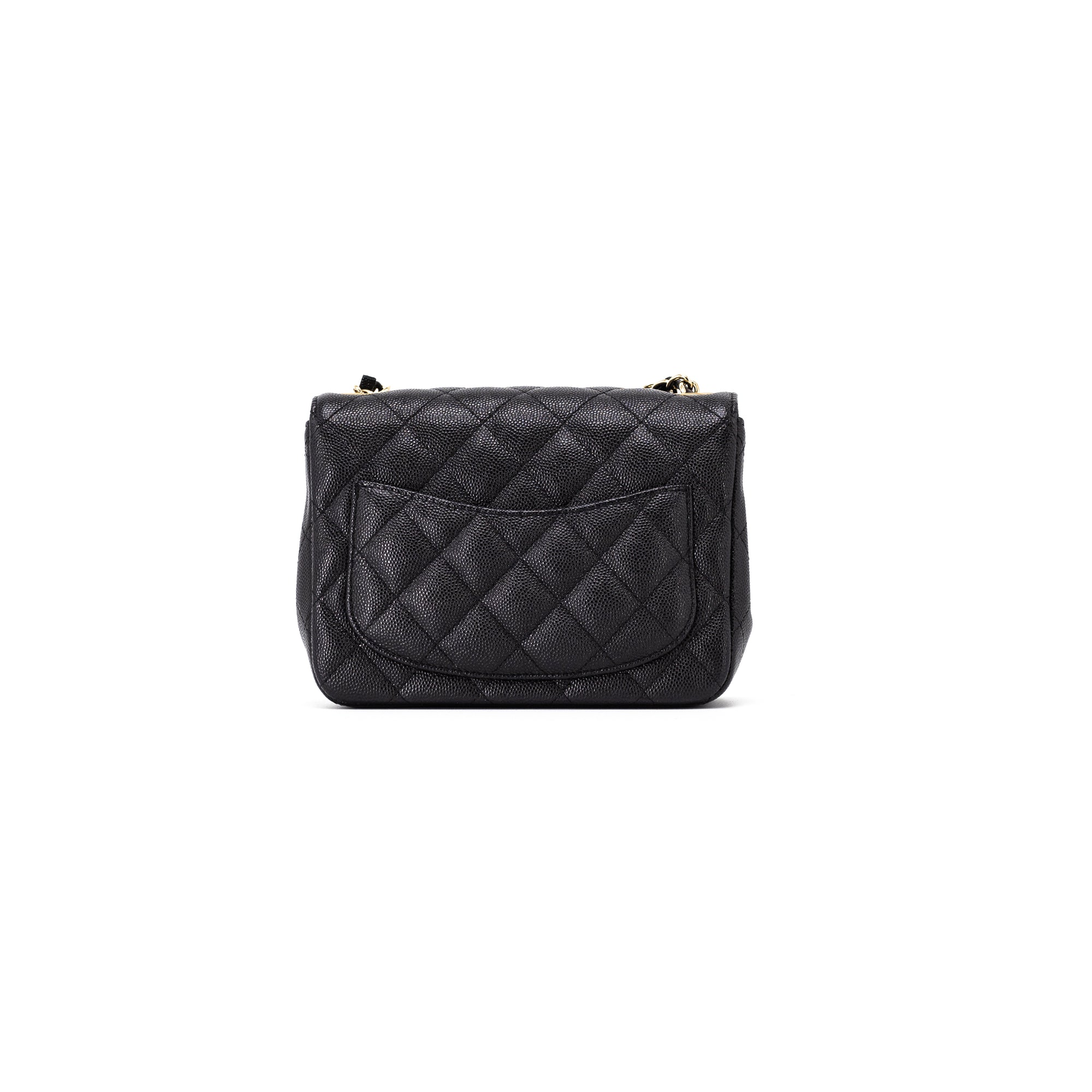 c2aaa5cdabe1 Chanel Quilted Black Caviar Square Mini - THE PURSE AFFAIR
