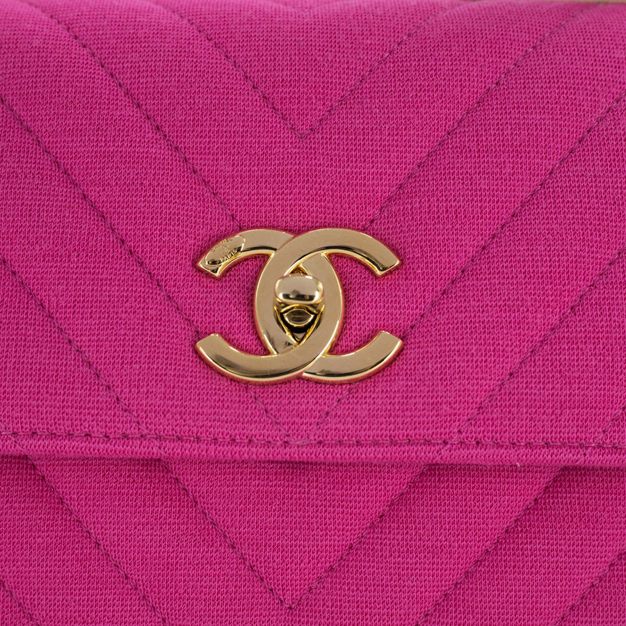 Chanel Chevron Small Trendy CC Fuchsia