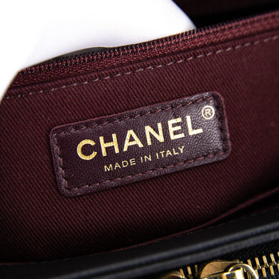 Chanel Small Business Affinity Black Caviar GHW (burgundy interior)