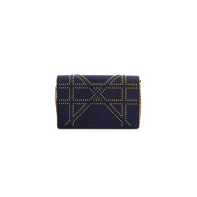 Dior Diorama Wallet on Chain Navy