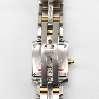 CARTIER TANK FRANÇAISE WATCH SMALL MODEL 18k YELLOW GOLD & STEEL 2018