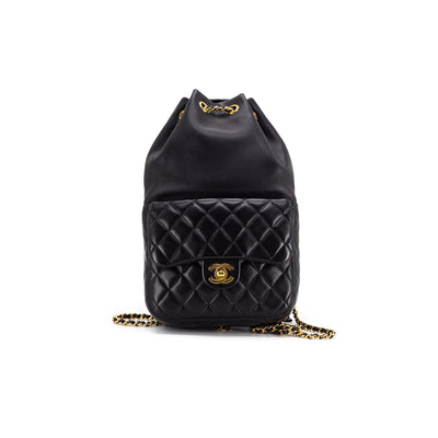 Chanel Quilted Lambskin Backpack Black