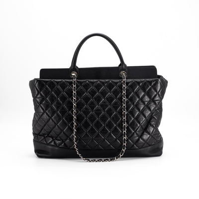 Chanel Quilted Calfskin Tote Bag Black