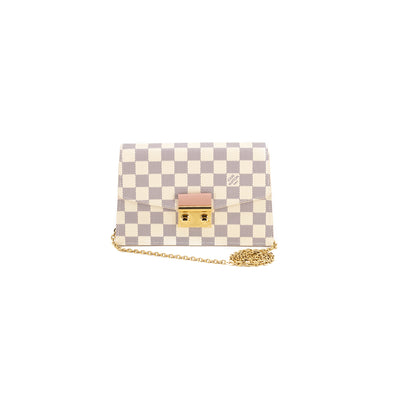 LOUIS VUITTON CROISETTE CHAIN WALLET DAMIER AZUR