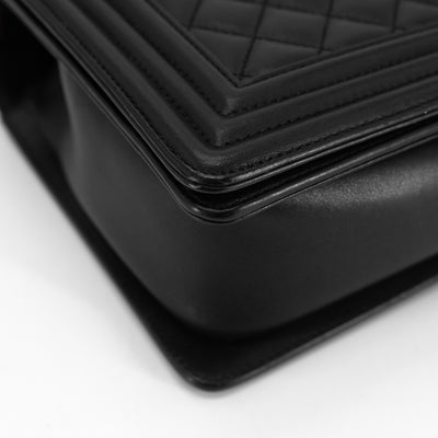 Chanel New Medium Quilted Calfskin Boy Black