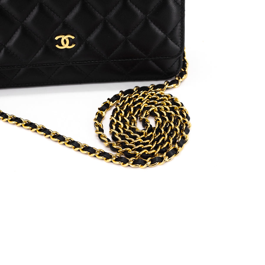 Chanel Quilted Wallet on Chain Black - updated version