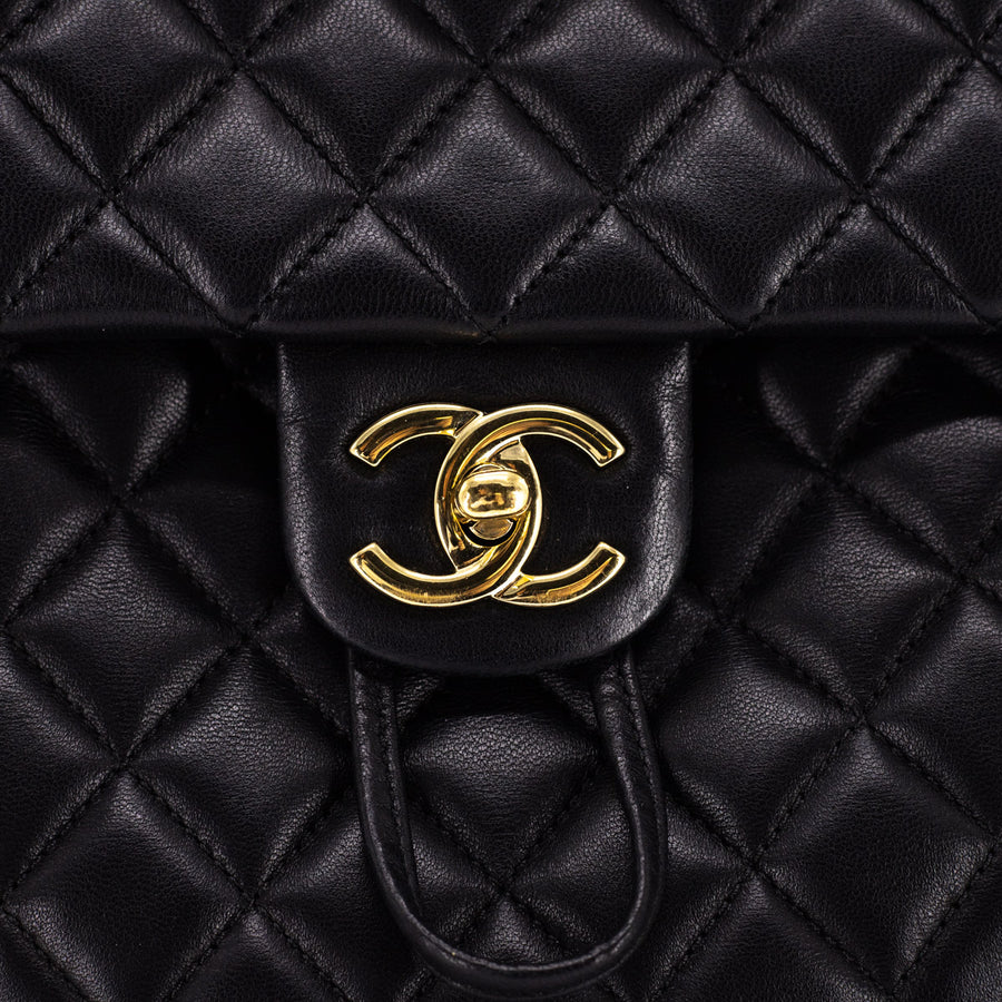 Chanel Large Urban Spirit Backpack Black