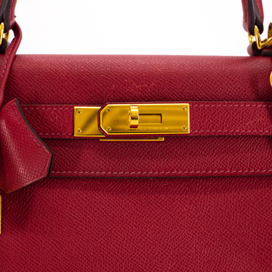 Hermes Kelly 28 Rouge Casaque