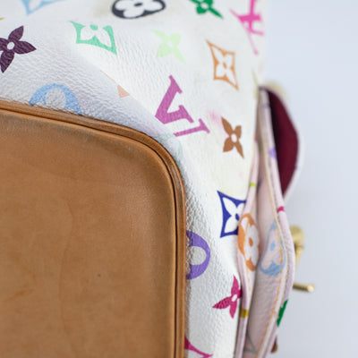 Louis Vuitton Multicolore Monogram Bucket Bag White