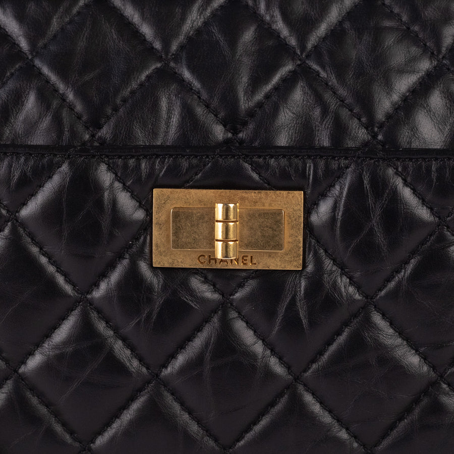 Chanel Reissue Quilted Camera Bowling Bag Black