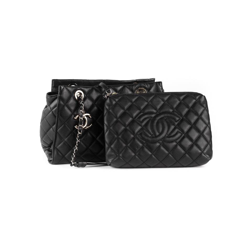 Chanel Quilted Tote Bag Black