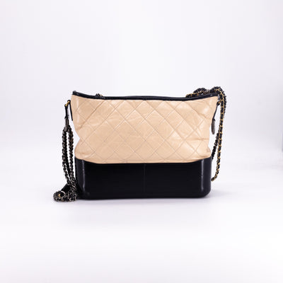 Chanel Gabrielle Hobo Medium Beige/Black