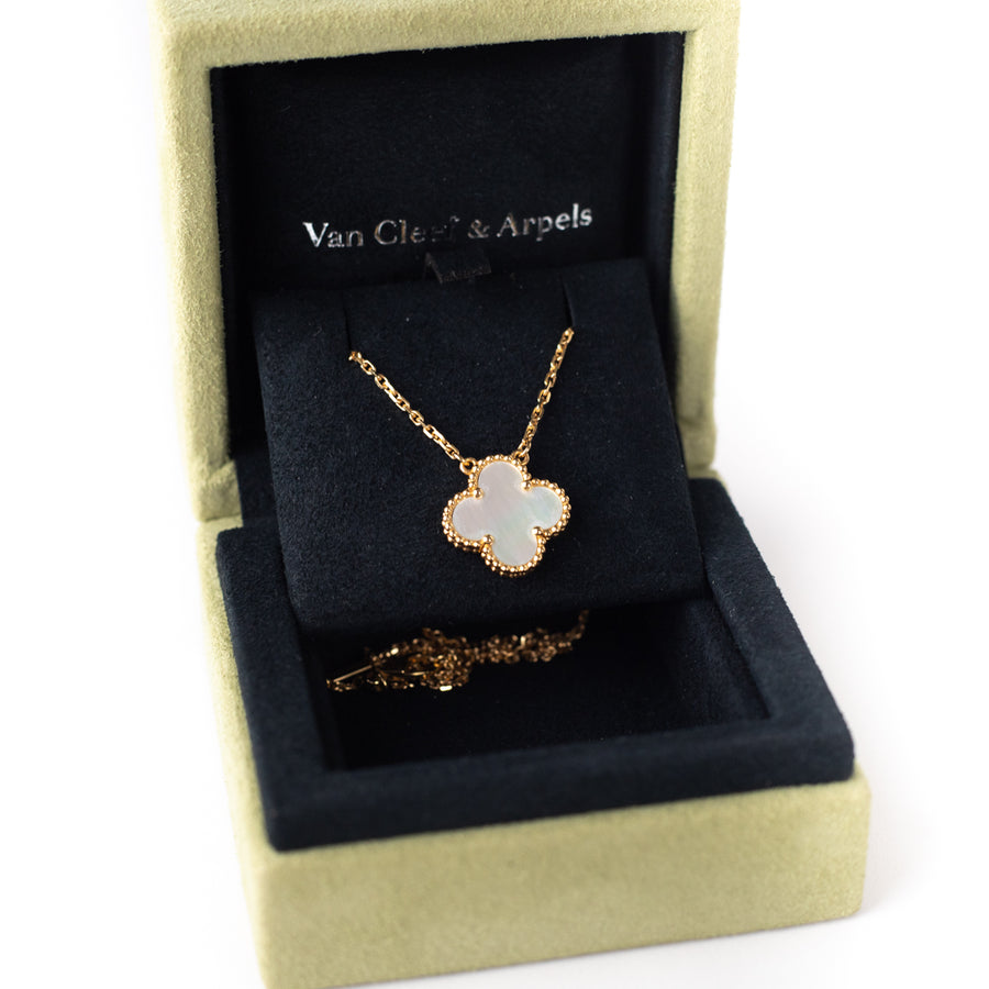 Van Cleef & Arpels vintage Alhumbra Necklace Yellow gold White mother of pearl